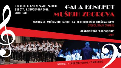 Gala concert of male choirs